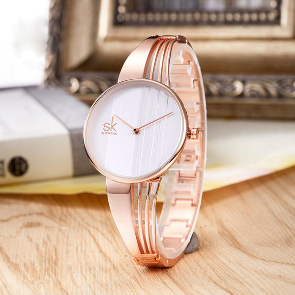 Shengke Fashion Gold-plated Women Watches - TimeLabStore