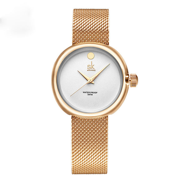 Shengke Brand Wrist Watch Women Gold Bracelet Watch - TimeLabStore
