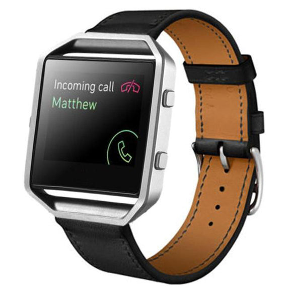 FITBIT BLAZE REPLACEMENT STRAP - High Quality Luxury Leather Watch Bands