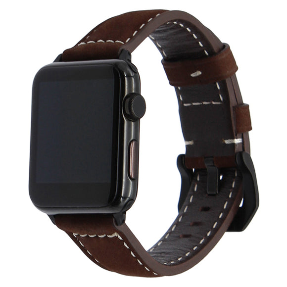 IWATCH REPLACEMENT STRAP - Vintage Genuine Cow Leather Strap - TimeLabStore