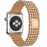 IWATCH REPLACEMENT STRAP - Luxury Stainless Steel Beads Strap - TimeLabStore