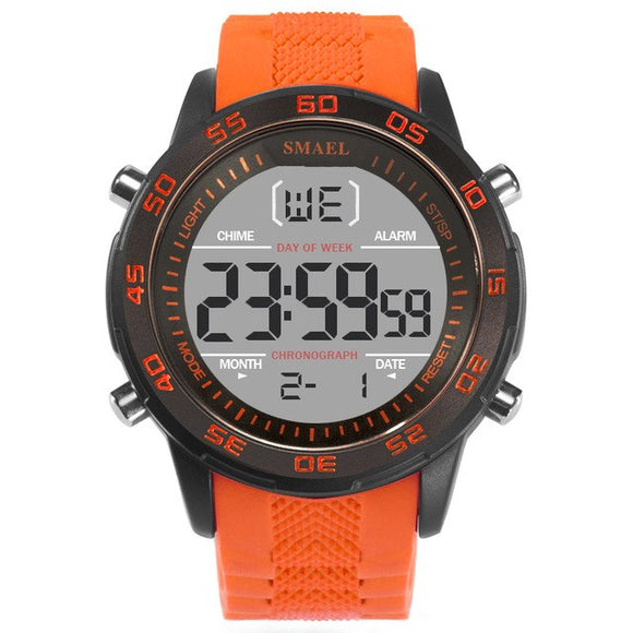 SMAEL Brand Led Digital Watch Stopwatch Chronograph Light Waterproof Shock Resist Male Clock