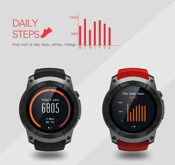 S958 Bluetooth smartwatch Heart Rate Monitor & GPS Fitness Tracker - TimeLabStore