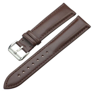 Genuine Leather Straps Belt Metal Pin Buckle For Unisex - TimeLabStore