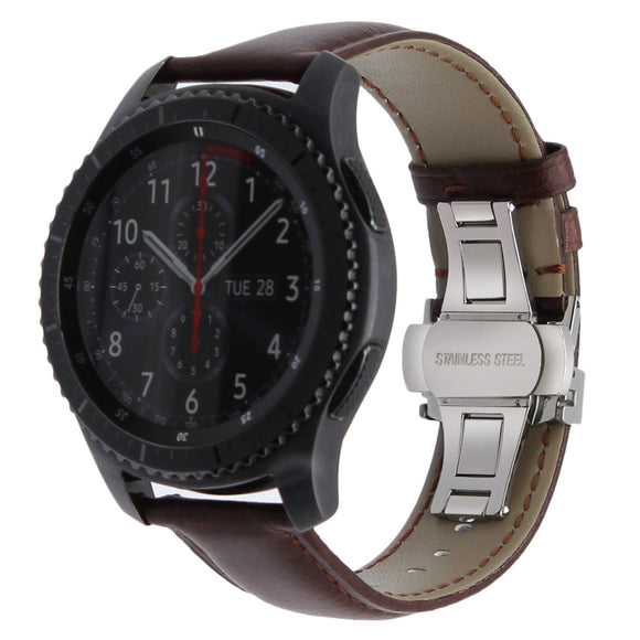 SAMSUNG WATCH REPLACEMENT STRAP - Italian Genuine Leather Watchband Quick Release Strap - TimeLabStore