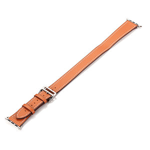 IWATCH REPLACEMENT STRAP - Double Tour Genuine Leather Band Replacement Belt Bracelet Straps - TimeLabStore