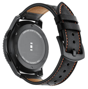 SAMSUNG GEAR S3 CLASSIC & FRONTIER  REPLACEMENT STRAP - Genuine Leather Watch Strap - TimeLabStore