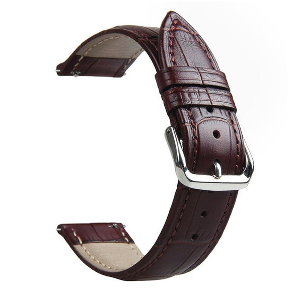 SAMSUNG GEAR S3 REPLACEMENT STRAP - Genuine Leather Black Brown Strap - TimeLabStore