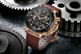 Genuine Leather Chronograph Casual Watch - TimeLabStore