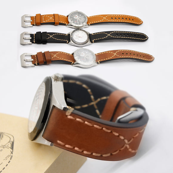 UNIVERSAL REPLACEMENT WATCH STRAP - Italy Genuine Leather Watchbands - TimeLabStore