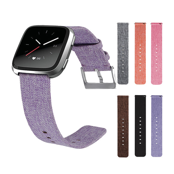 FITBIT VERSA REPLACEMENT STRAP - Canvas Watchband Buckle Strap Wristband for Fitbit Versa - TimeLabStore