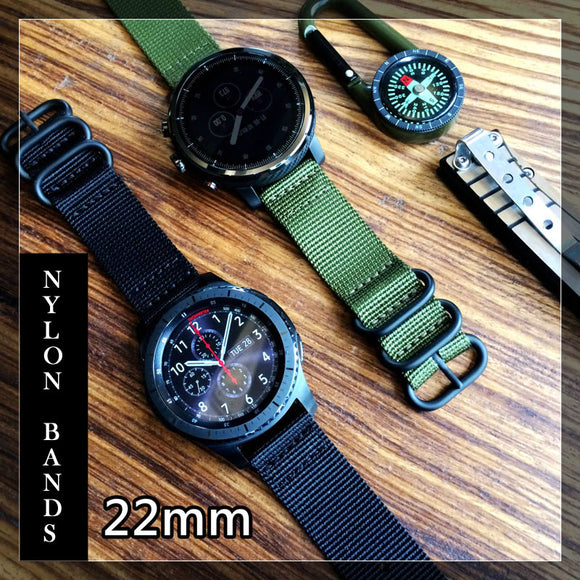 22mm Nylon Watch Band Strap