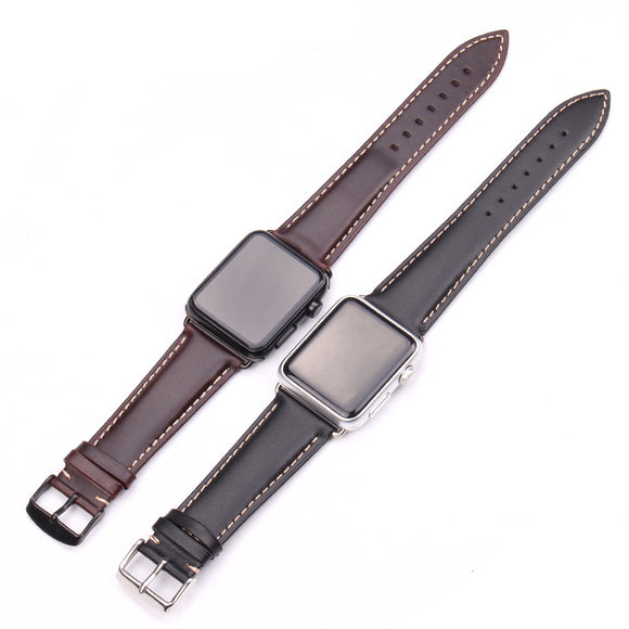 IWATCH REPLACEMENT STRAP - Vintage Genuine Leather Watchband - TimeLabStore