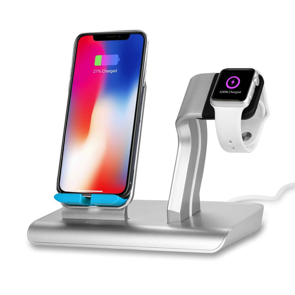 2 in 1  Apple iPhone Watch Charging Holder with Universal Wireless Charger