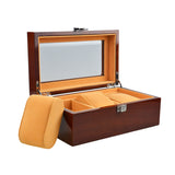 WATCH BOX - Luxury High Quality Watch Boxes 3 Grids Wooden Watch Display Jewelry Storage - TimeLabStore