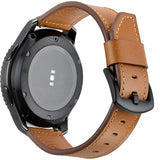 Brown Leather Strap Black Watch Band Men and Women Strap Watch 22mm - TimeLabStore