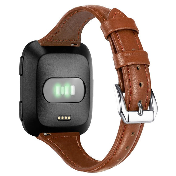 FITBIT VERSA REPLACEMENT STRAP - Luxury Leather Bands