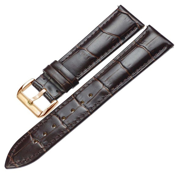 Tissot Genuine Leather Watchbands Bracelets Belt 18mm 20mm 22mm watch band Metal Pin Buckle - TimeLabStore
