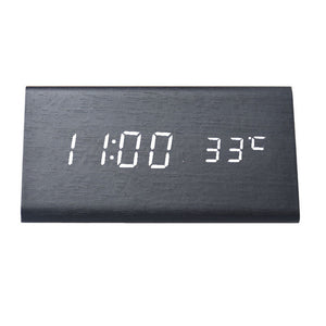 Creative Temperature Display Sounds Control Electronic LED Alarm Clock