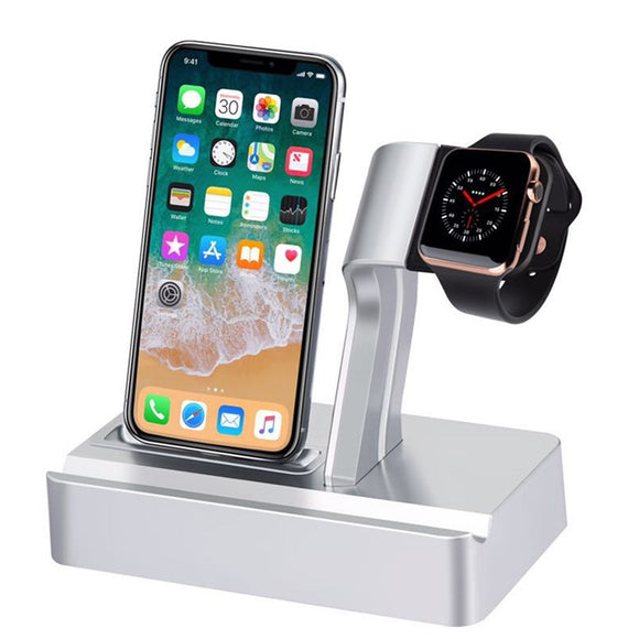 2 in 1 Apple Watch Charger Docking Station