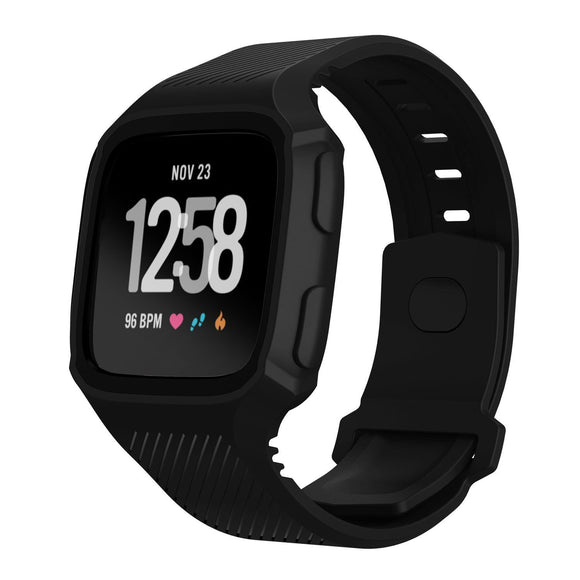 FITBIT VERSA REPLACEMENT STRAP - Two-Tone TPU Silicone Smart Wristband Waterproof And Shockproof