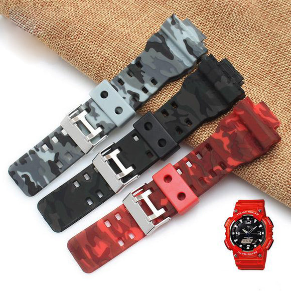 G-SHOCK REPLACEMENT STRAP -  Silicone Strap Camouflage Watchband