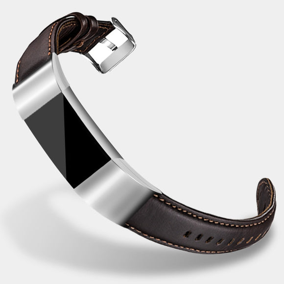 FITBIT CHARGE 2 REPLACEMENT STRAP - Leather Strap Watchband