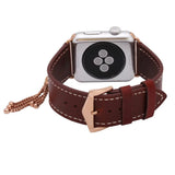APPLE WATCH REPLACEMENT STRAP - Charming Tassels Cowhide Genuine Leather Strap