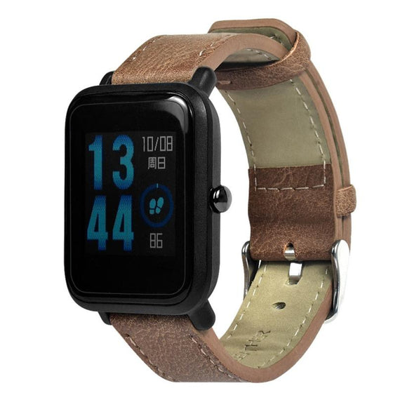 Amazfit Bip Replacement Strap - Retro Leather Band