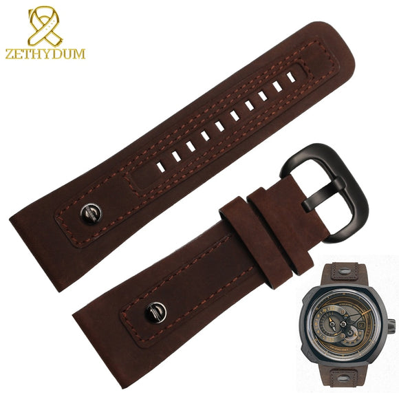 Genuine leather bracelet 28mm Restoring leather watch strap for Friday Q2 with nail wristwatches belt mens watchband
