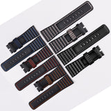 Handmade Men's 28mm Leather Watch Strap for Sevenfriday Watchband Waterproof Black Watch Band
