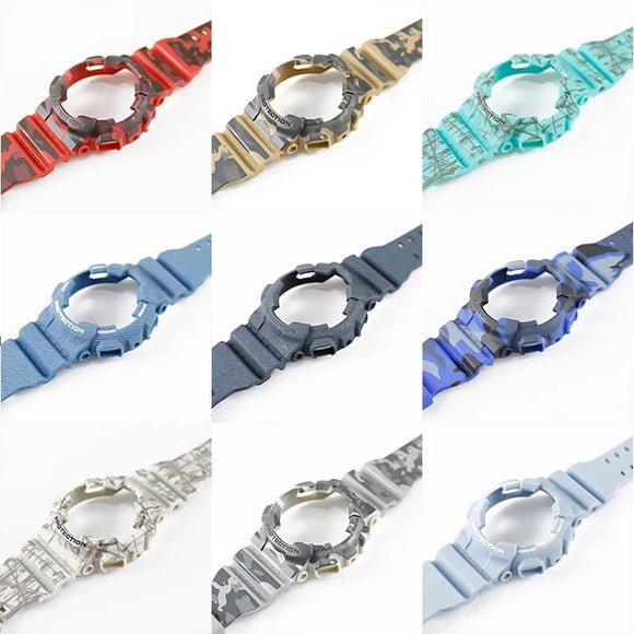 G-Shock Replacement Strap - Mens Camouflage Resin Outdoor sports Watch Strap