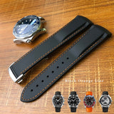 Omgea Seamaster Replacement Strap - High Quality Watchband Silicone Rubber Watch Strap Curved End Sports