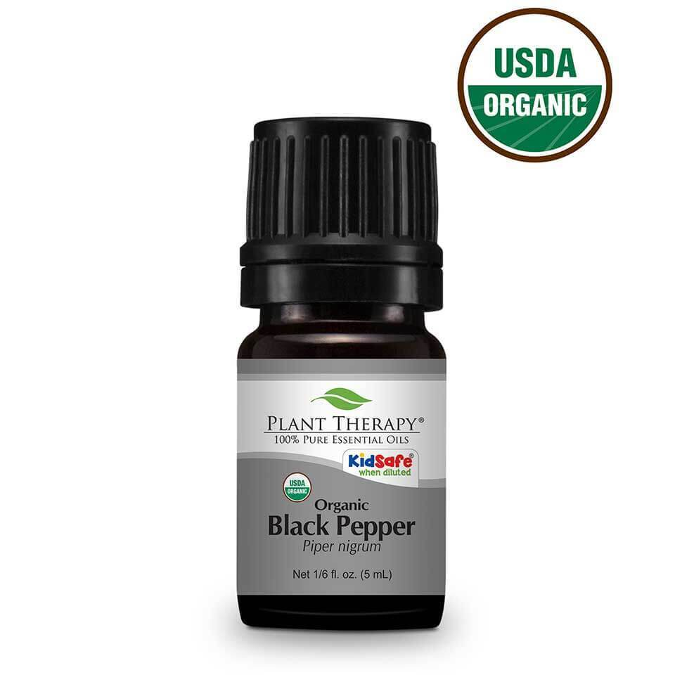Plant Therapy Black Pepper Organic Essential Oil - OilyPod