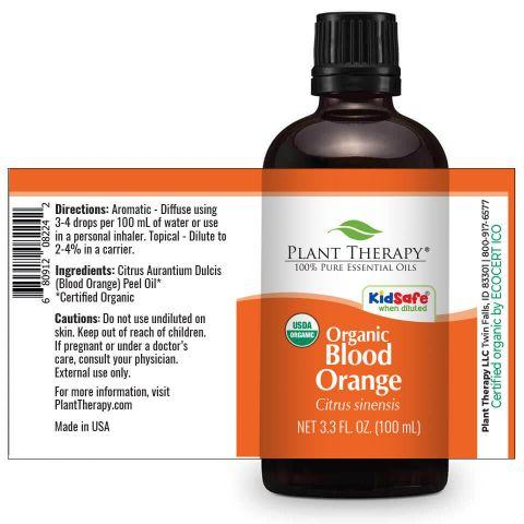 Plant Therapy Blood Orange Organic Essential Oil - OilyPod