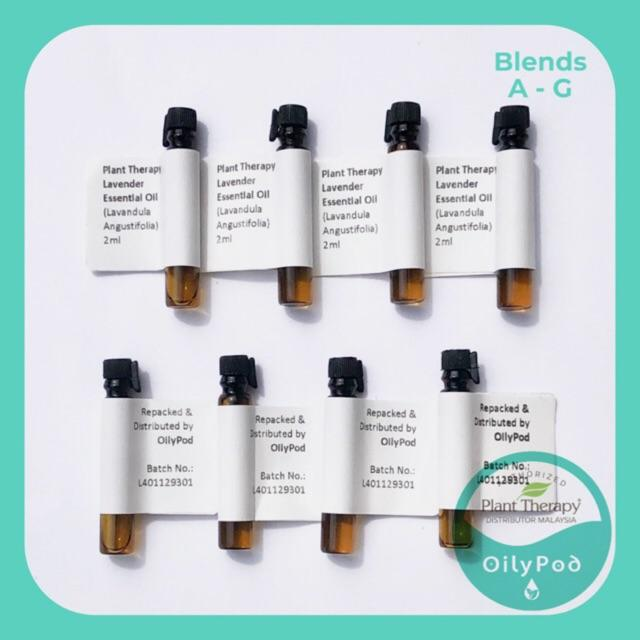 Plant Therapy Essential Oil Sample 2ml - BLENDS (H-S) - OilyPod