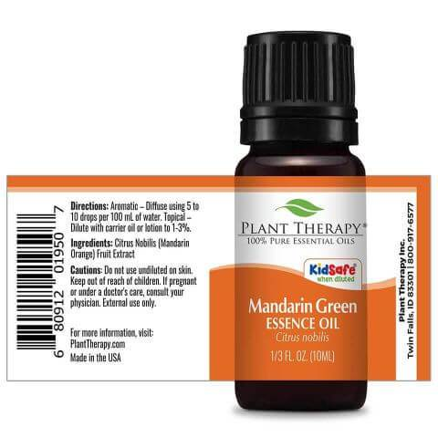 Plant Therapy Mandarin Green Essence Oil 10ml - OilyPod