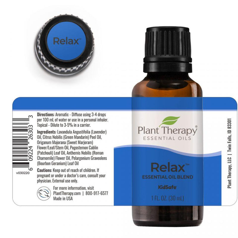 Plant Therapy Relax Synergy Essential Oil - OilyPod