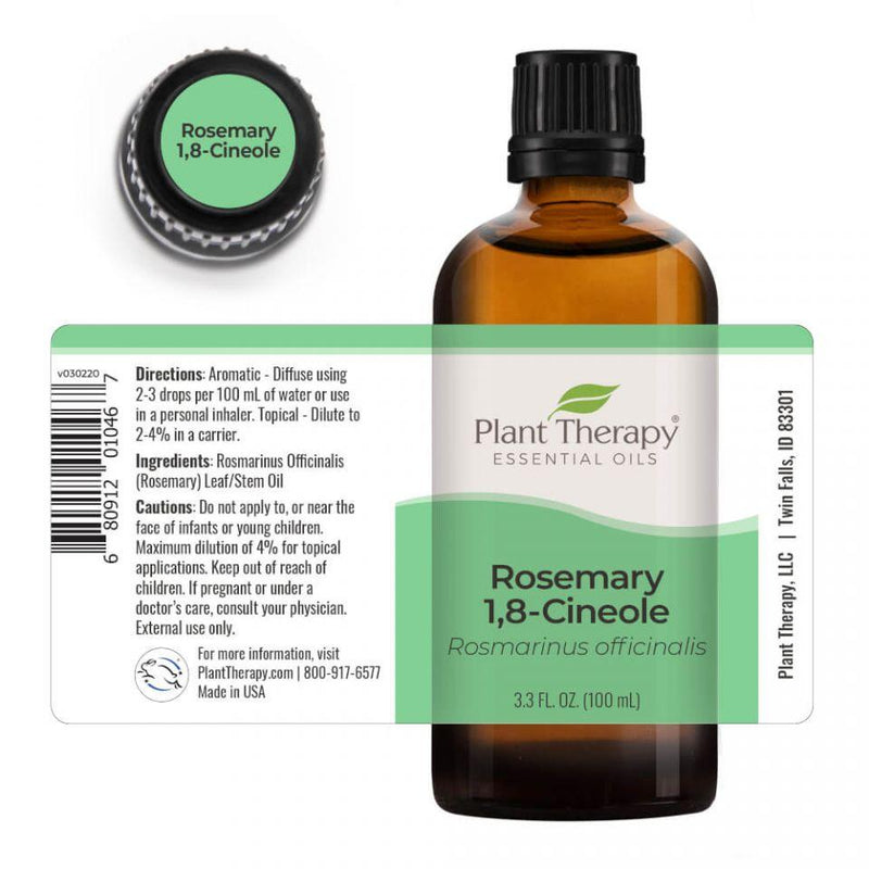 Plant Therapy Rosemary 1,8-Cineole Essential Oil - OilyPod