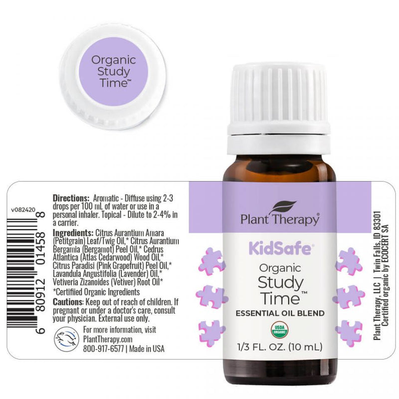 Plant Therapy Study Time KidSafe Organic Essential Oil 10ml - OilyPod