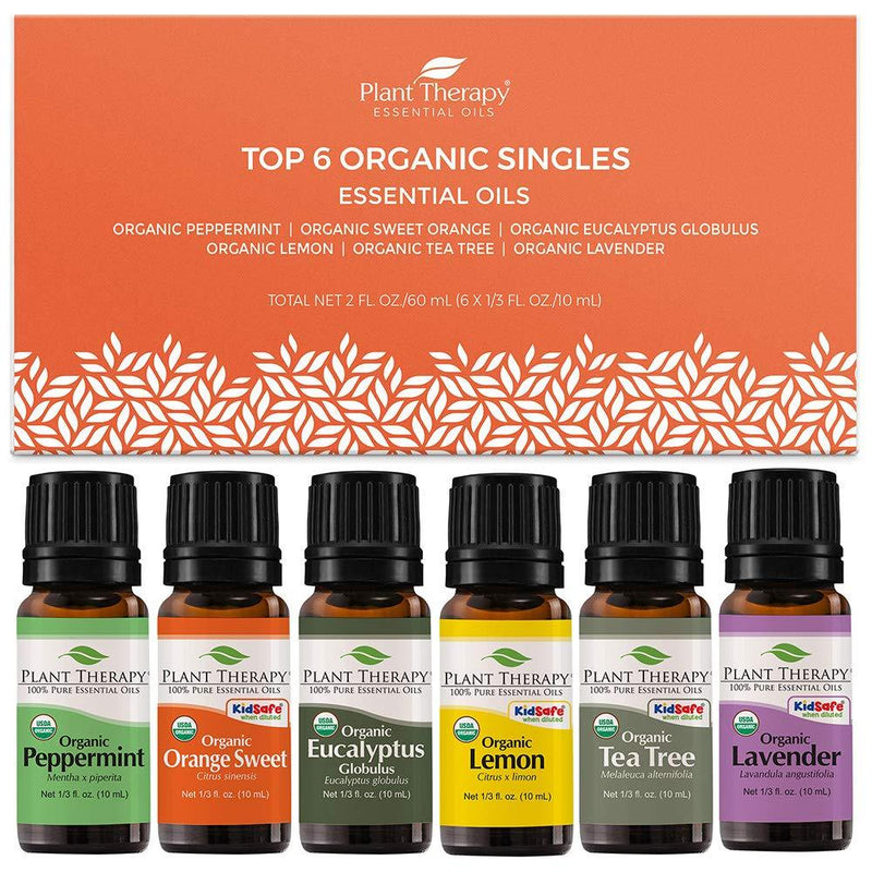 Plant Therapy Top 6 Organic Singles Set with NovaFuse - OilyPod