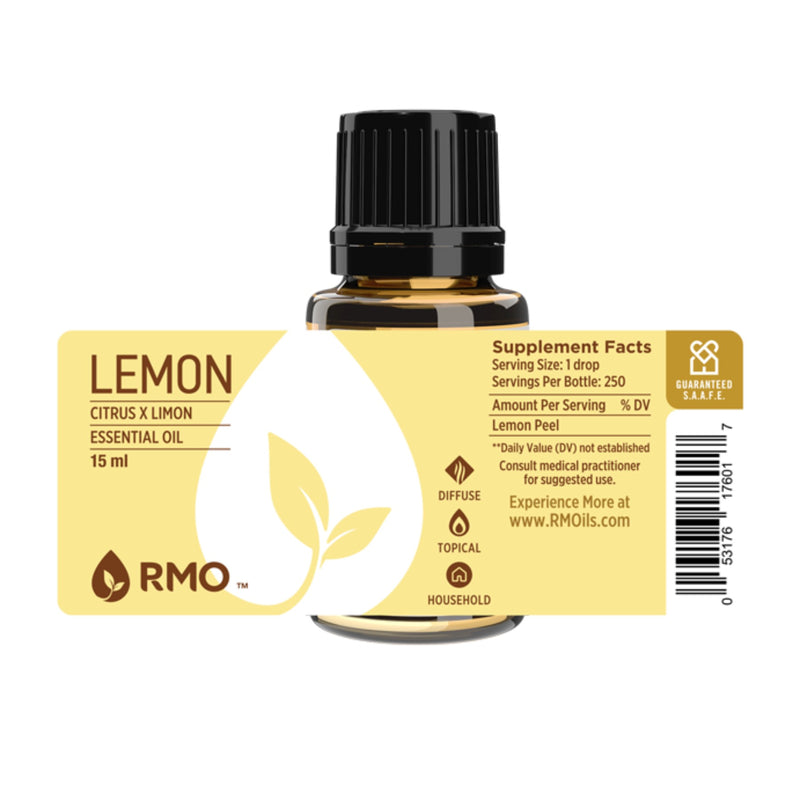 Lemon Pressed Peel Essential Oil 15ml