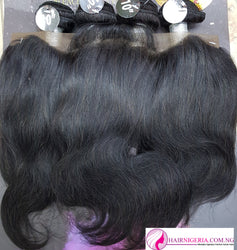 Lux Beauty Body Wave Human Hair with Frontal