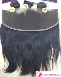 Double R5 Straight Human Hair and Frontal