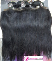 Lux Beauty Straight Human Hair with Frontal