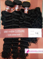 Superior Deep Wave Human Hair and Closure