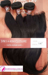 Superior Straight Human Hair Extension and Closure