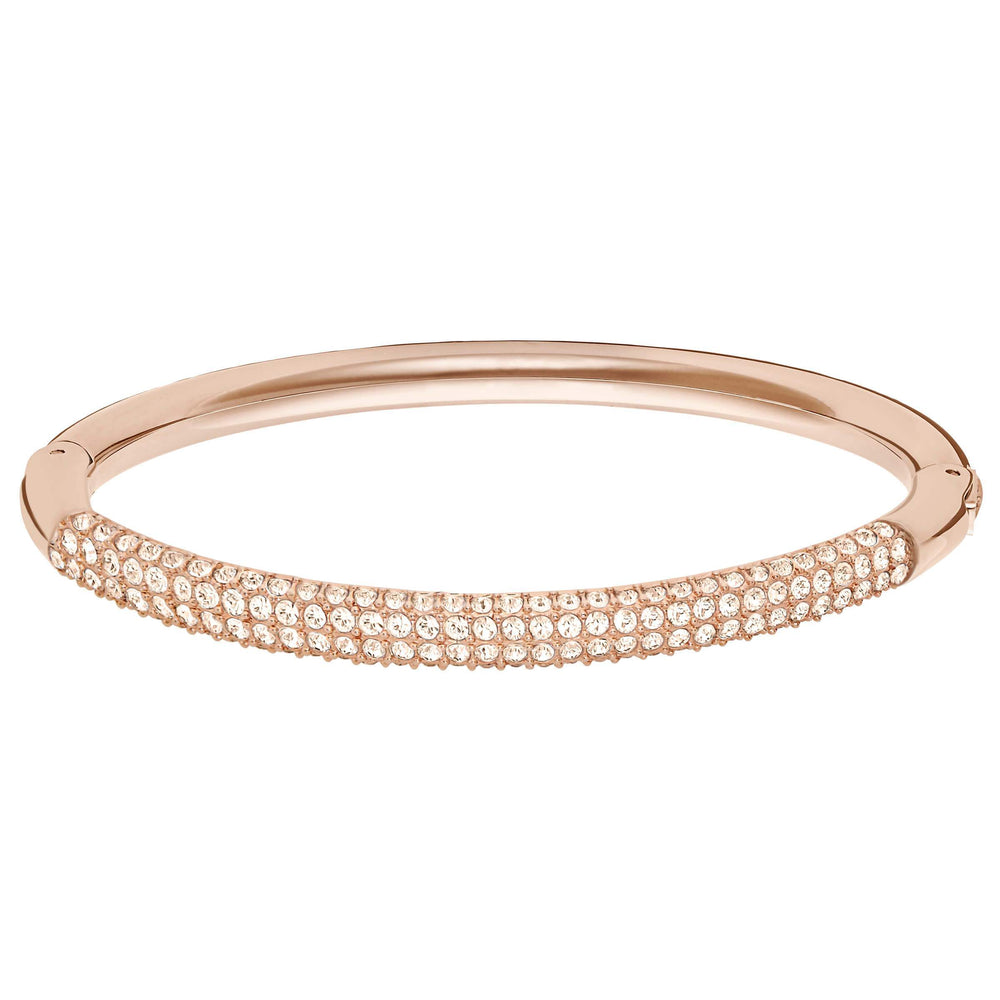 Swarovski Stone Mini Bangle, White, Rose Gold Plated