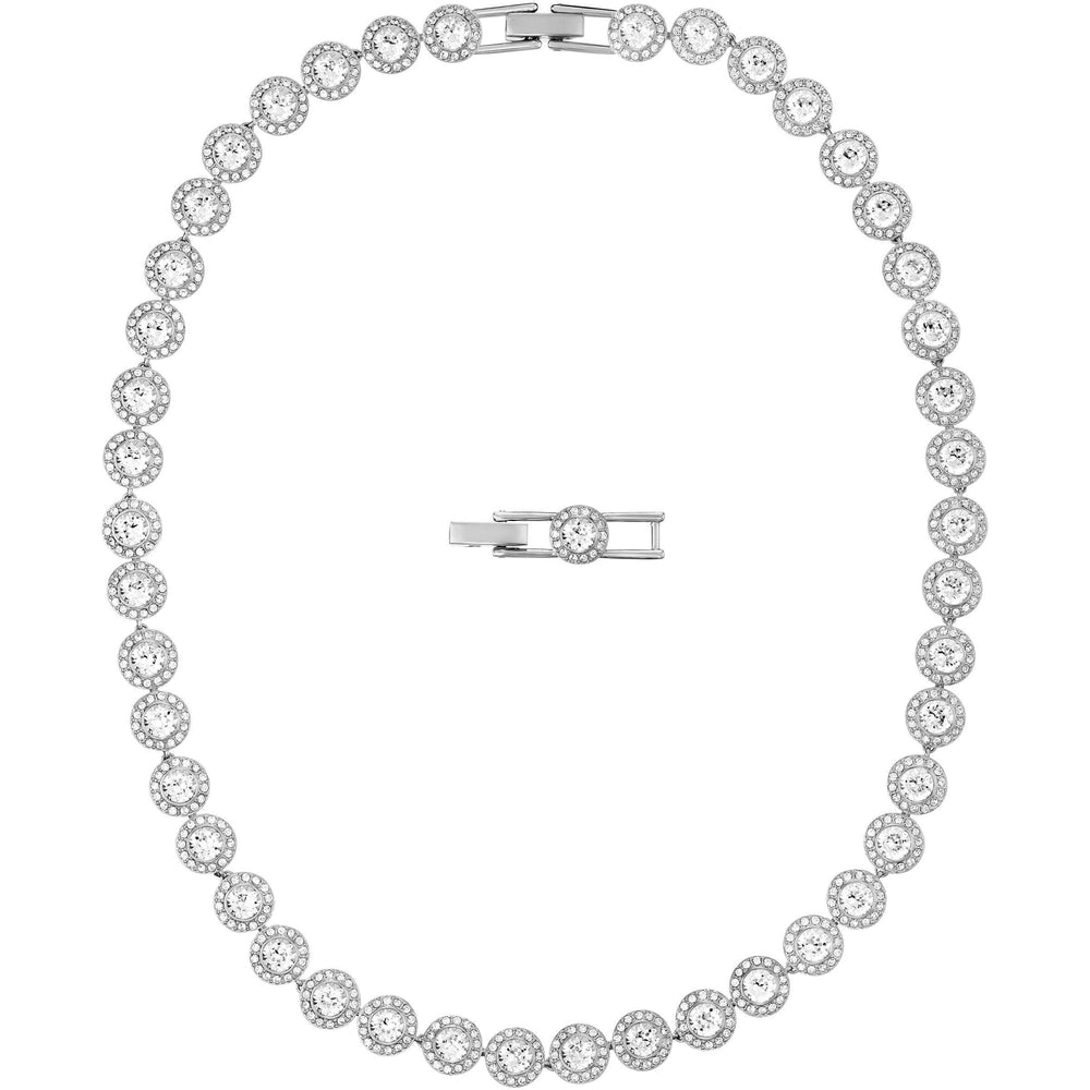 Swarovski Angelic Necklace, White, Rhodium Plated