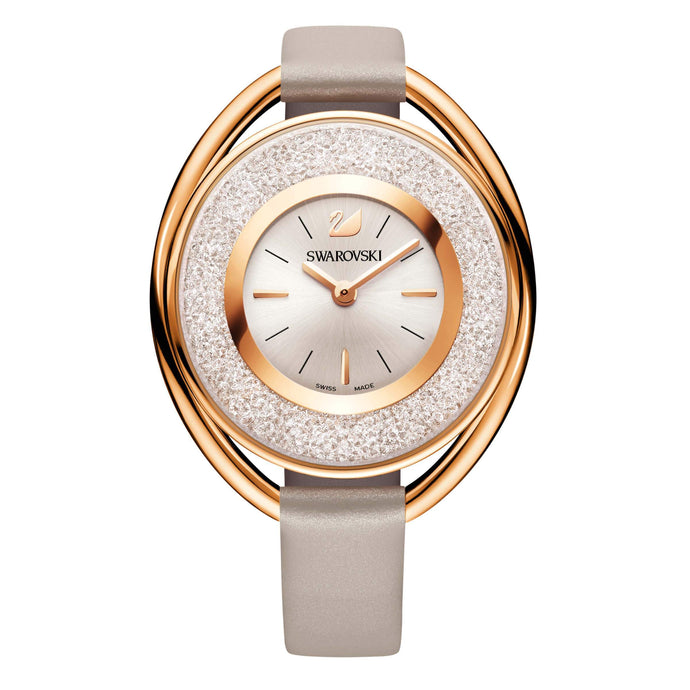 Swarovski Crystalline  Oval Watch, Rose Gold Tone